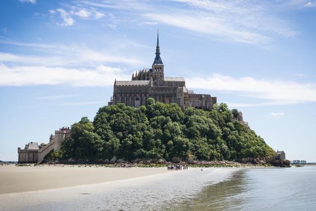 Le Mont-Saint-Michel vu de la baie