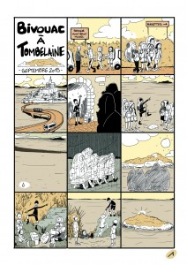 Bivouac à Tombelaine en bande dessinée