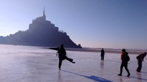 Patins à glace Mont St Michel